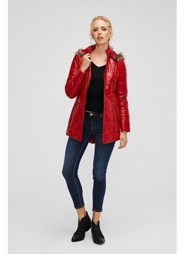 Deri Company Kadın Hakiki (Gerçek) Deri Mont Serena Kırmızı 211516 Kırmızı
